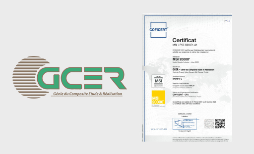 GCER company certified MSI 20000